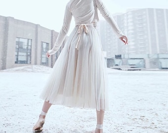 L'amant Collection pink/blue/white ballet in the snow fairy layered skirt