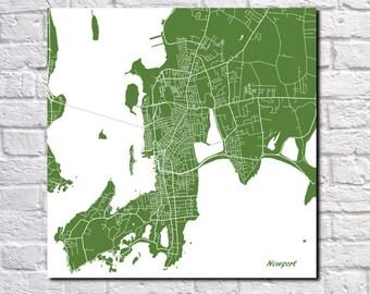 Newport Street Map Print Map of Newport Rhode Island Poster Art 7084S