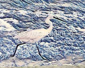 Egret Note Cards - package of 5