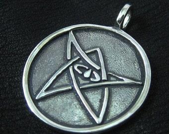 Silver Elder Sign pendant