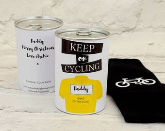 Cycle Sock Tin - cycling gifts - bike gifts - bike socks - gifts for dad - gifts for him - cycle enthusiast