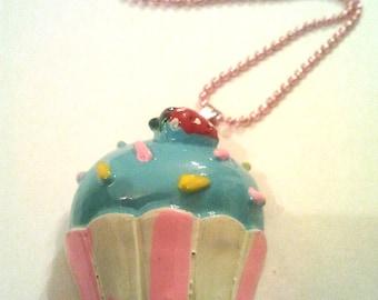 Original cupcake Cool Emo Kawaii silver 1.5mm ball chain necklace Israel Hand made