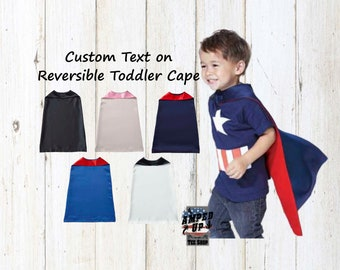 Custom Toddler Reversible Cape, Personalized Toddler Reversible Cape, Custom Cape, Personalized Cape, Kids Cape, Superhero Cape,Toddler Cape