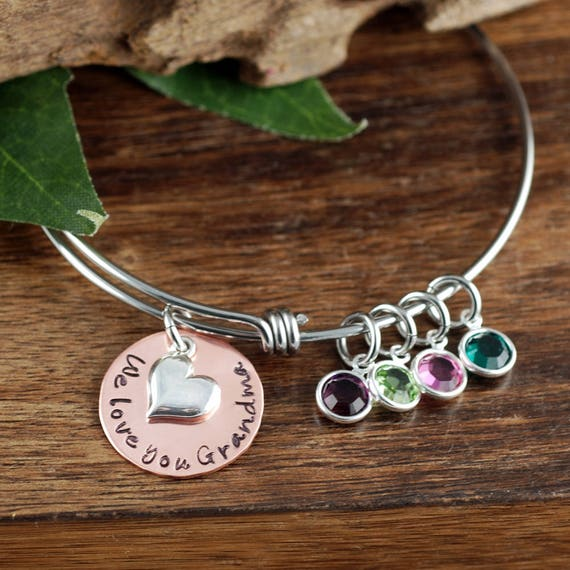 Personalized Grandma Bracelet, Hand Stamped Nana Bracelet, Personalized Jewelry, Grandmother Bracelet, Gift for Her, Gift for Grandma