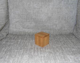 Boîte de bague de chêne