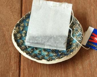 Tea bag Holder, Trinket Dish, Ring Bowl, Tea bag Rest, Turquoise Ring Dish, Little Bowl, Textured Ring Dish, Ceramic Jewelry Dish, Tea Lover