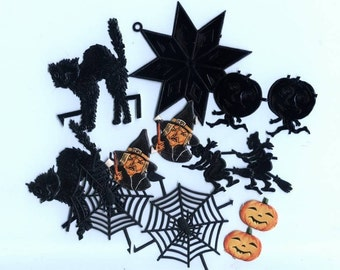 Grab Bag of Genuine Halloween Scraps and Dresdens - Vintage and New