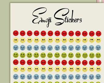 Emoji stickers journal stickers, planner stickers