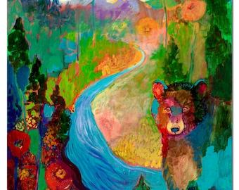 i am the mountain stream - Fine Art Print by Jenlo