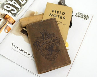 Field Notes Leather Cover - Ravenclaw - Customizable - Free Personalization
