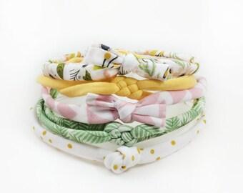 Baby Headbands, Infant Headband, Palm Tree Headband, Headband, Baby Girl Headband, Bows, Flower Headband, Baby Shower Gift, Top Knot