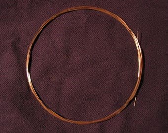FREE Shipping 14K Pink (Rose) Solid Gold Round Wire 22g 1 Foot HH