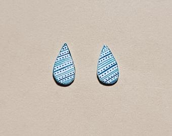 Teal Raindrop Earrings