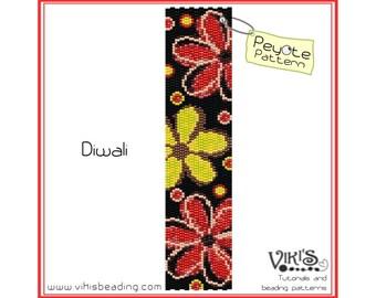 Diwali - Peyote Bracelet Pattern - INSTANT DOWNLOAD pdf - Multibuy savings with coupon codes