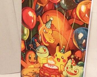 Pokémon Birthday Card
