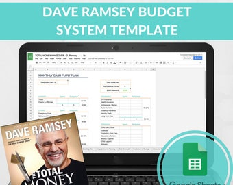 Dave Ramsey Budget System Template- Dave Ramsey Baby Step Total Money Makeover - Debt Planner Spreadsheet - Budget Excel - Debt Free