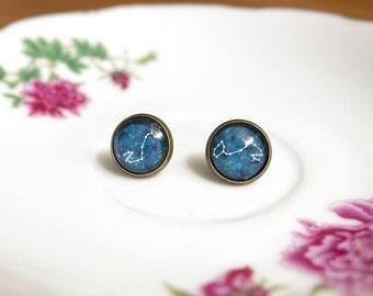 Earrings | Scorpio zodiac constellation | personnalized gift | personnalized jewelry | handmade jewelry | Scorpio zodiac sign