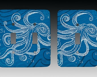 Octopus One Color Switchplate, Lightswitch Cover, Lightswitch Plate