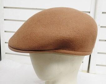 Cuffley Stetson England Wool Felt Driving Motoring Cap Hat 561 924389e3a841