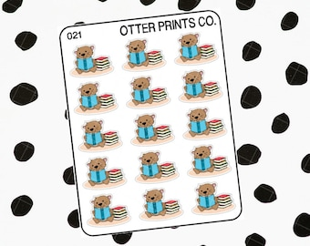 Reading || Otis the Otter Character Stickers