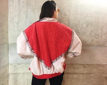 Quilted Colourblock Coat