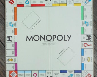 Monopoly Game Board 1961 Library Edition