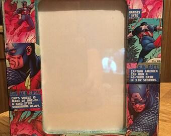 """Avenger Captain America 4"""" X 6"""" Picture Frame"""