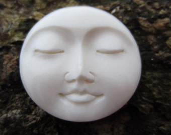 AAA quality 30 mm Gorgeous Moon face , Embellishment, Organic cabochon, Jewelry making Supplies S3389