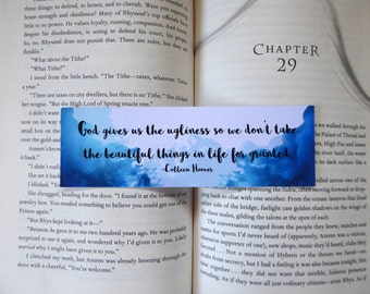 Don't Take the Beautiful Things in Life for Granted Bookmark