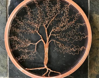 Tree of life in copper.