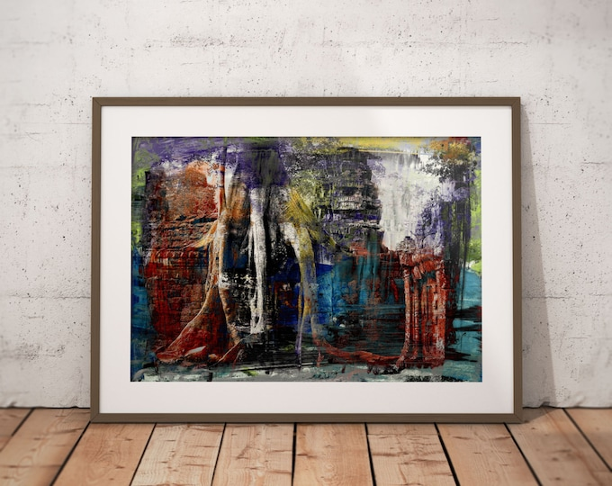 Ancient Asia XXI by Sven Pfrommer - Artwork is ready to hang with a solid wooden frame