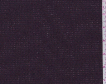 Maroon/Navy Stripe Suiting, Fabric By The Yard