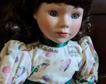 St. Valentine's Day Vintage Porcelain Doll