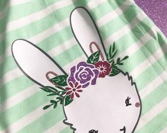 Girls easter dress, girls easter outfit, girls easter dress size 5,  monogram easter dress, mint easter dress, easter bunny dress, bunny