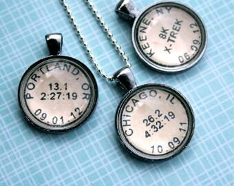 Marathon Necklace - Running Jewelry Running Necklace - Custom Necklace Marathon Jewelry - Marathon Gift - Gift for Runner - Half Marathon