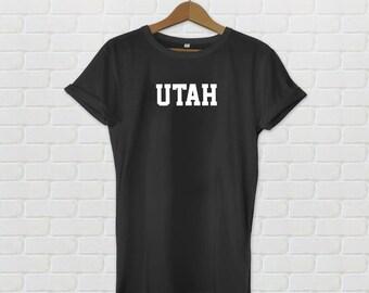 Utah Varsity Style T-Shirt - Black