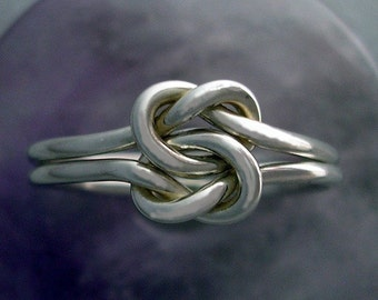 Knot Ring in Sterling Silver Double Love Knot