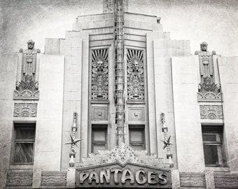 Pantages Theatre, Hollywood, Los Angeles Photography, Black and White, LA Wall Art, Architecture, California, Fine Art Print