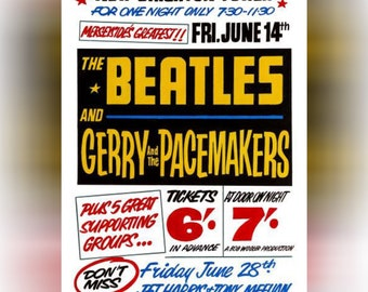 The Beatles Poster Tower Ballroom Concert A4 Print Vintage Gift