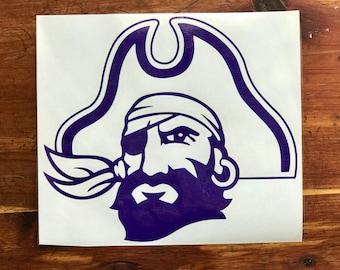East Carolina University Pirate Decal - ECU Decal - Pirate Decal