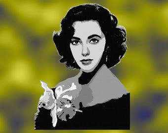 Embroidery Elizabeth Taylor motion pictures star