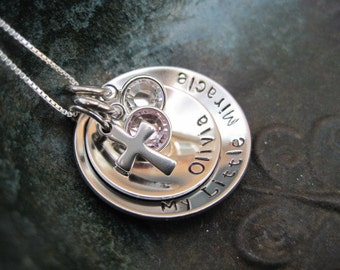 Stamped Jewelry - Family Necklace - Mothers Necklace - Mommy Necklace - Grandmas Necklace - Personalized Necklace