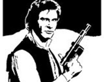 Scroll saw patterns - Instant download - Han Solo Star Wars