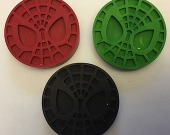 Superhero Spiderman Party Favor crayons * Set of 3 pieces * Perfect Party Favors * Stocking Stuffers * Small Gifts