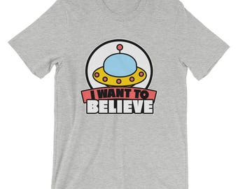 Vintage I Want To Believe UFO T-Shirt