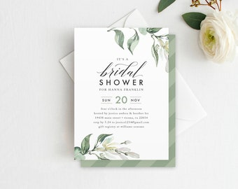 Tuscan shower invite etsy tuscan bridal shower invitation greenery bridal shower invitation greenery shower template diy printable filmwisefo