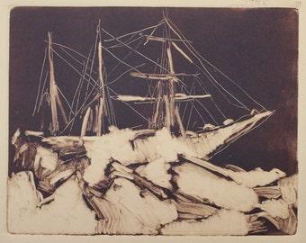 nautical print / contemporary art / framed wall art / nautical decor