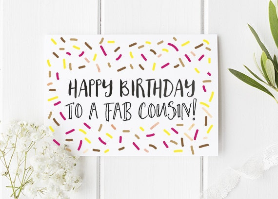 Cousin birthday card happy birthday to a fab cousin cousin bookmarktalkfo Image collections