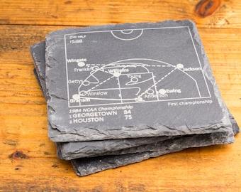 Georgetown Greatest Plays - Slate Coasters (Set of 4)