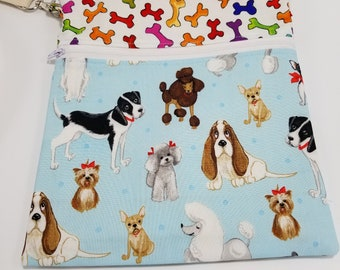 Dog Walker Essentials Crossbody Bag Purse Blue